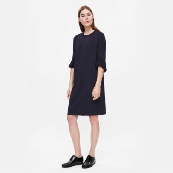 cf204ea7c8a5 COS Dresses & Skirts - COS Navy Blue Knit Bell Sleeve Dress